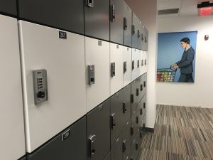 Steel lockers for securing personal items