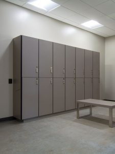 Organize campus with day-use lockers