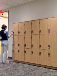 Day-use lockers for temporary campus storage