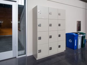 Day-use lockers for college admins