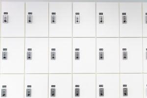 A bank of Day-use Lockers