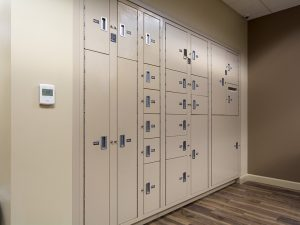 Evidence lockers come in several different sizes