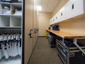 Mobile Shelving and Cabinets provide innovative storage for Georgia Tech football team