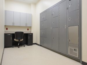 Lockers in Evidence Processing and Storage Area