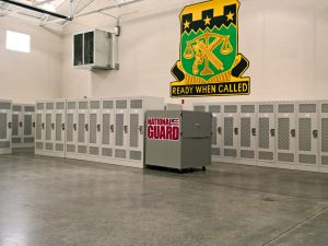 Personal storage lockers for National Guard unit