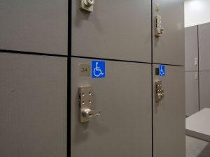 Storage lockers for temporary needs