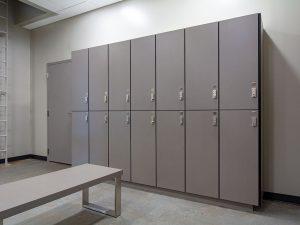 2-Tier lockers for temporary storage