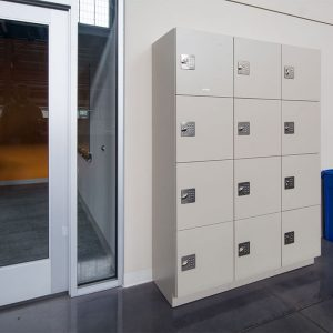 Day-use lockers for library users