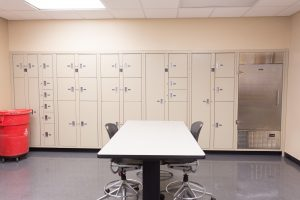 Evidence stored in refrigerated lockers