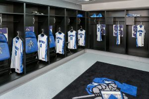 Laminate lockers for basketball team