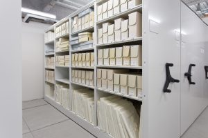 Archival collection preservation on high-density shelving