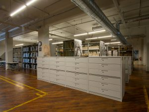 Museum Material Stored in Archive Storage Cabinets