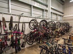 Storage Racks for Bikes Needed as Evidence