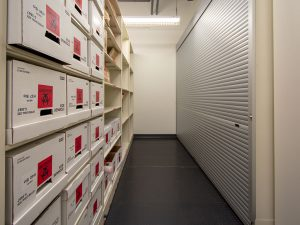 Boxed Evidence Stored and Protected on Shelving