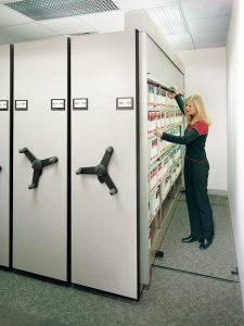 Compact Storage Shelving for Protecting Medical Records