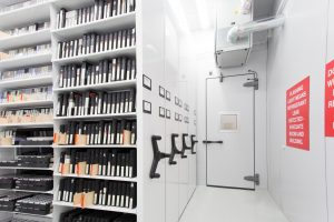 Compact climate controlled vault for archival storage