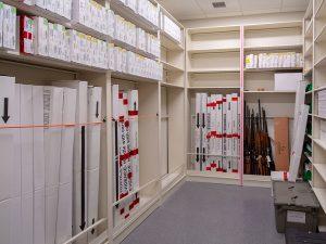 Hand Gun and Long Gun Storage on 4-Post Shelving