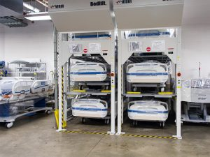 Protect your investment in hospital beds with Hospital Bed Storage Carousels