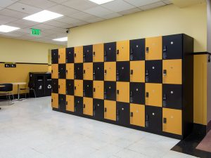 Day-use lockers store and protect student possessions