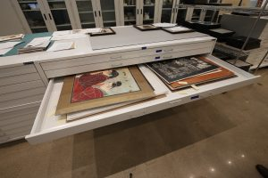 Archive Storage in flat file museum cabinets