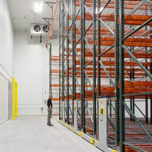 High-density storage system in warehouse
