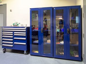 Laboratory Cabinets with Glass Doors