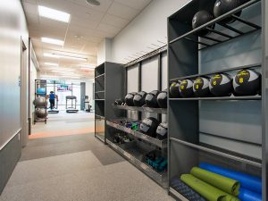 Flexible Storage Solutions in Corporate Office Gym