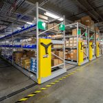 Space is saved in facilities warehouse with high-density storage