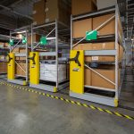 Facilities department saves space with compact storage shelving