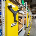 Mobile shelving provides more space for facilities department