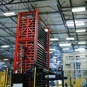 Sheet Metal Storage Unit in Warehouse