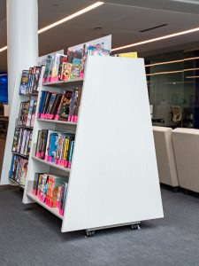 Rearrange Space with A-Frame Book Display Carts