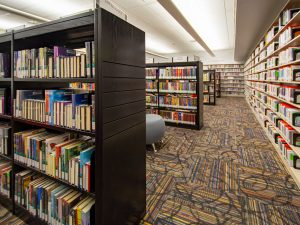 Cantilever Library Stacks with Custom End Panels and Tops