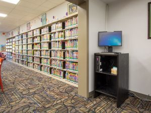 Storage Shelving For Libraries Can Be Adjusted To Fit The Media Size