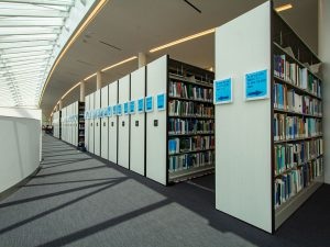 Mobile Library Stacks in College Campus Library