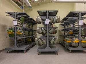 Military Parachute Storage Carts for Easy Mobility