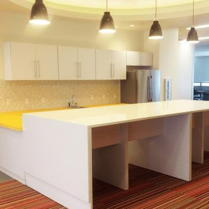 Modular Cabinets and Countertops for Small Break Room Area