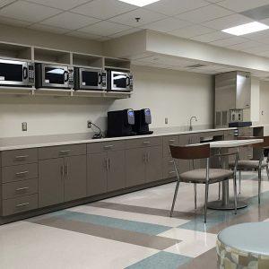 Modular Laminate Cabinets for Break Room Storage