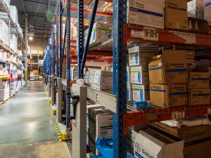 Compact Warehouse Racking Doubles Space