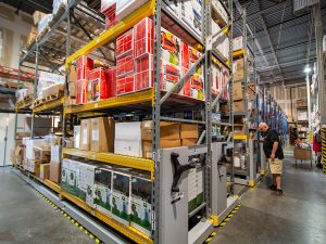 High-Density Warehouse Storage Saves Space and Improves Productivity