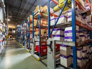 High-Density Mobile Storage Saves Space in Warehouses
