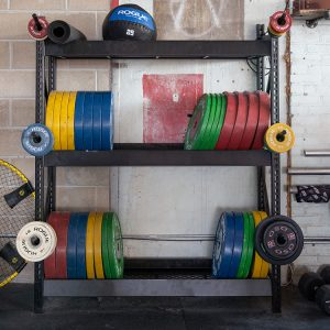 Weight Storage Shelving for Gyms and Boxes
