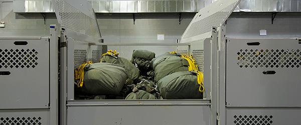Parachute Storage Bins